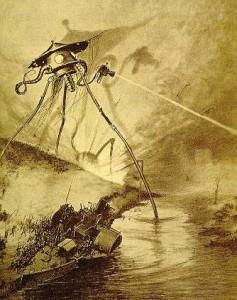 """H. G. Wells beschreibt in seinem Roman """"Krieg der Welten"""" wie die Marsianer mit """"Hitzestrahlen"""" angreifen. (Bild: Alvim Corrêa)"""