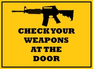 Weapons sign (2)