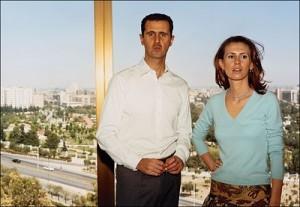Bascher Assad mit seiner Frau Asma