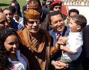 Qadhafi and Chavez