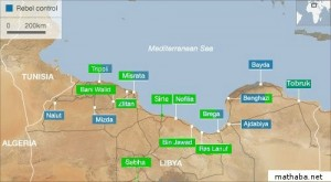 green libya map