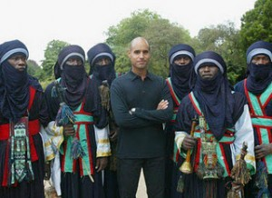 Saif Al Islam with Touaregs