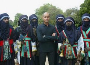 Saif Al Islam with Touaregs