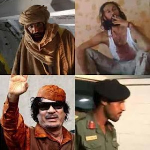 Gaddafi and sons