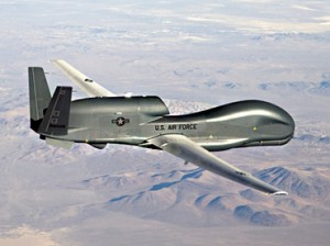 Air Force handout photo of a RQ-4 Global Hawk