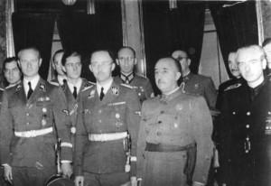 Himmler bei Franco 1940 - Bild: Bundesarchiv