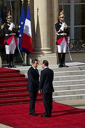 Hollande, Sarkozy - Bild: Wikipedia