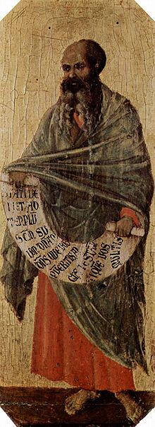 Prophet Maleachi, von Duccio di Buoninsegna, c. 1310 (Museo dell'Opera del Duomo, Siena Cathedral) Bild: Wikipedia
