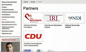 UDAR NDI IRI CDU Klitschko -