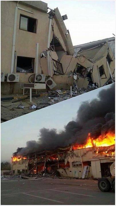 Auswirkungen der Bombardements vom Morgen auf Tripolis, die Hauptstadt Libyens.