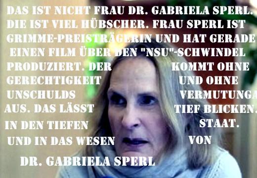 Das Wesen Gabriela Sperl