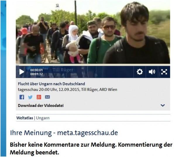 fluechtlinge zensur gez